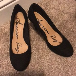 American Rag Size 7 New Black Heels w Tags and Box